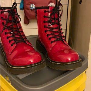 Dr. Martin delaney red boots